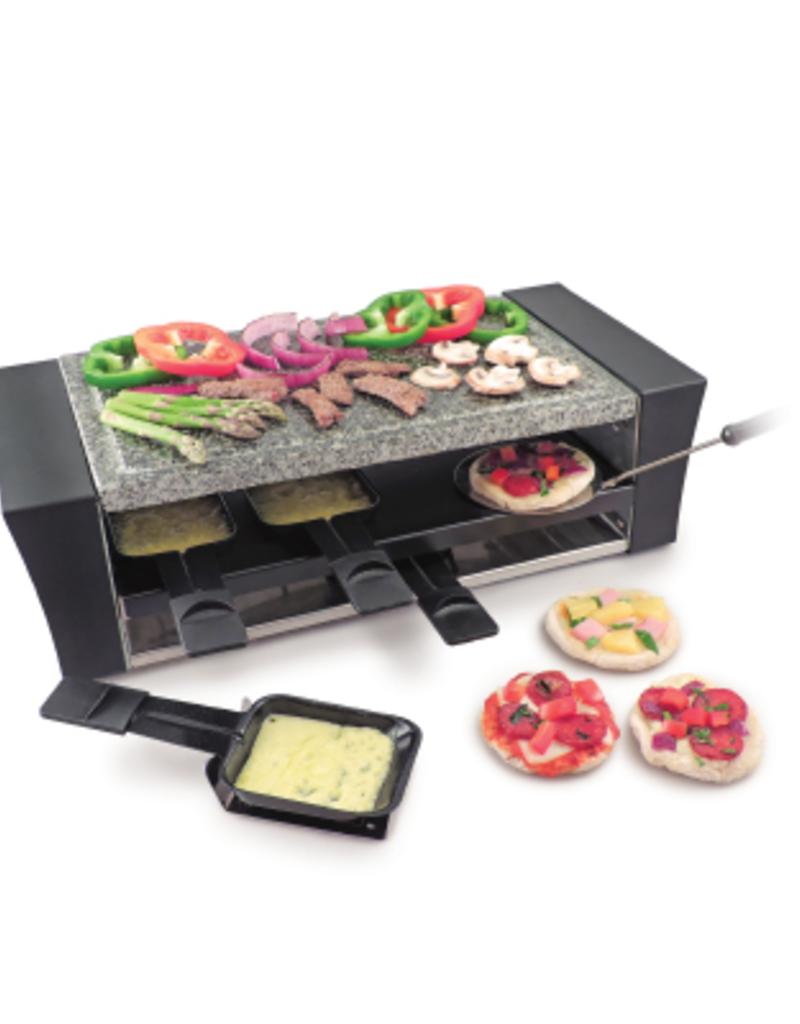 Swissmar Locarno Pizza Raclette Party Grill w/Granite Stone 8 Person
