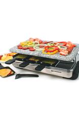 Swissmar Stelvio 8-Person Raclette w/granite stone, stainless steel