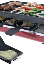Swissmar Classic 8-Person Raclette w/cast iron grill plate - Red, 1200W
