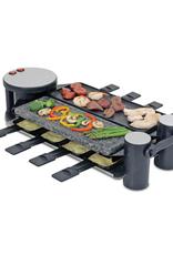 Swissmar Swivel Raclette 8 Person Party Grill (half hotstone, half cast aluminum plate)