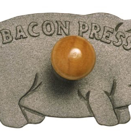 Norpro Pig Bacon/Grill Press, Wood Handle