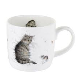 Royal Worcester Wrendale Mug: Cat and Mouse