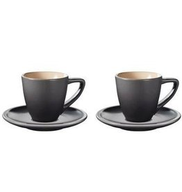 Le Creuset Espresso Cups & Sauces Minimalist Set of 2, Oyster