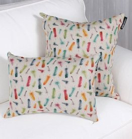 "Marie Dooley Plumes Throw Pillow/Cushion, 18x18""/46x46cm"
