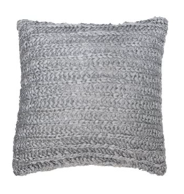 Brunelli (HB Promotion Inc) Loulou Charcoal Cushion Cover 18x18 w/filler