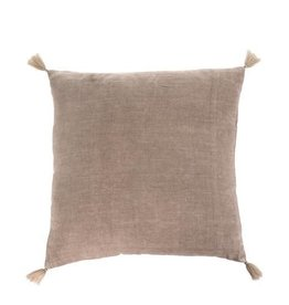 Indaba Nala Linen Cushion/Throw Pillow, Taupe, 20x20""