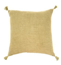 Indaba Nori Linen Cushion/Throw Pillow, Green, 20x20""