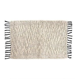 Indaba Knot & Weave Bath Mat, Solid, 24x36""