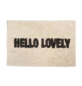 "Indaba Hello Lovely Bath Mat, 20x30"""