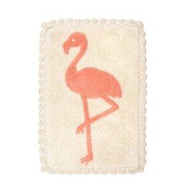 "Indaba Flamingo Crochet Bath Mat, 20x30"""