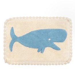 "Indaba Whale Crochet Bath Mat, 20x30"""