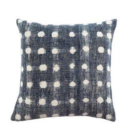 """Indaba Indigo Dot Cushion, 20x20"""""""