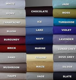 Cuddle-Down Percale Deluxe Sheet Set - King, Burgundy