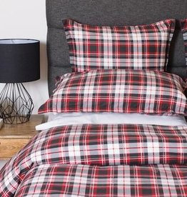 Cuddle-Down Wallace Velvet Flannel Queen Duvet Cover Set w/2 Shams
