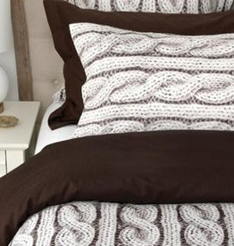 Cuddle-Down Cable Knit Duvet Cover Set Queen