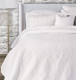 Brunelli (HB Promotion Inc) Eva White Super King Coverlet Set w/ 2 King Shams, 114x100""