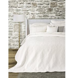 Brunelli (HB Promotion Inc) Eva White Double/Queen Coverlet w/ 2 Shams, 88x90""