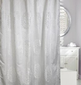 Moda at Home Victoria Jacquard Shower Curtain, 71x71""