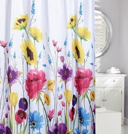 """Moda at Home Wildflowers Shower Curtain, 71x71"""""""
