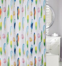 Moda at Home Fresh Feathers Shower Curtain, 71x71""