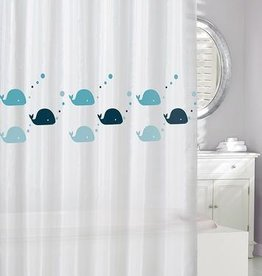 Moda at Home Whales 'Eco' Shower Curtain, 70x72""