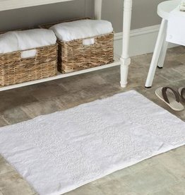 Moda at Home Cloud Cotton Rug/Bath Mat, White, 20x32""