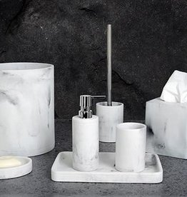 Moda at Home Michaelangelo Resin Grey Marble Look - Tumbler