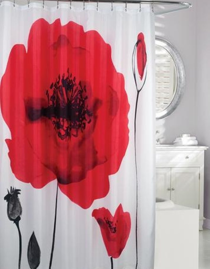 Moda at Home Poppy Explosion Shower Curtain, 71x71""