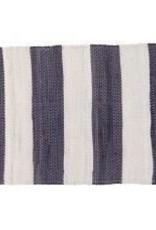 """Gajmoti of Canada Ltd. Chindi Rugs-Striped-Grey/Ivory, 20x32"""""""