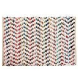 Gajmoti of Canada Ltd. Braided Floor Mat-White, Multicolor, 24x36""