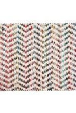 Gajmoti of Canada Ltd. Braided Floor Mat-White, Multicolor, 30x48""