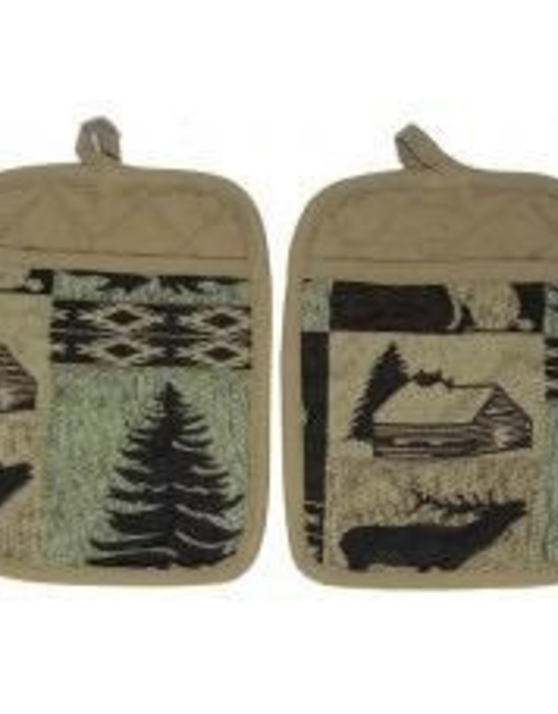 Gajmoti of Canada Ltd. Pot Holders-Canadian North, 2pc Set