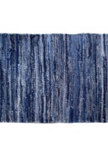 "Gajmoti of Canada Ltd. Chindi Rugs 24X36"" - Denim Blue"