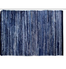 "Gajmoti of Canada Ltd. Chindi Rugs 30X48"" - Denim Blue"