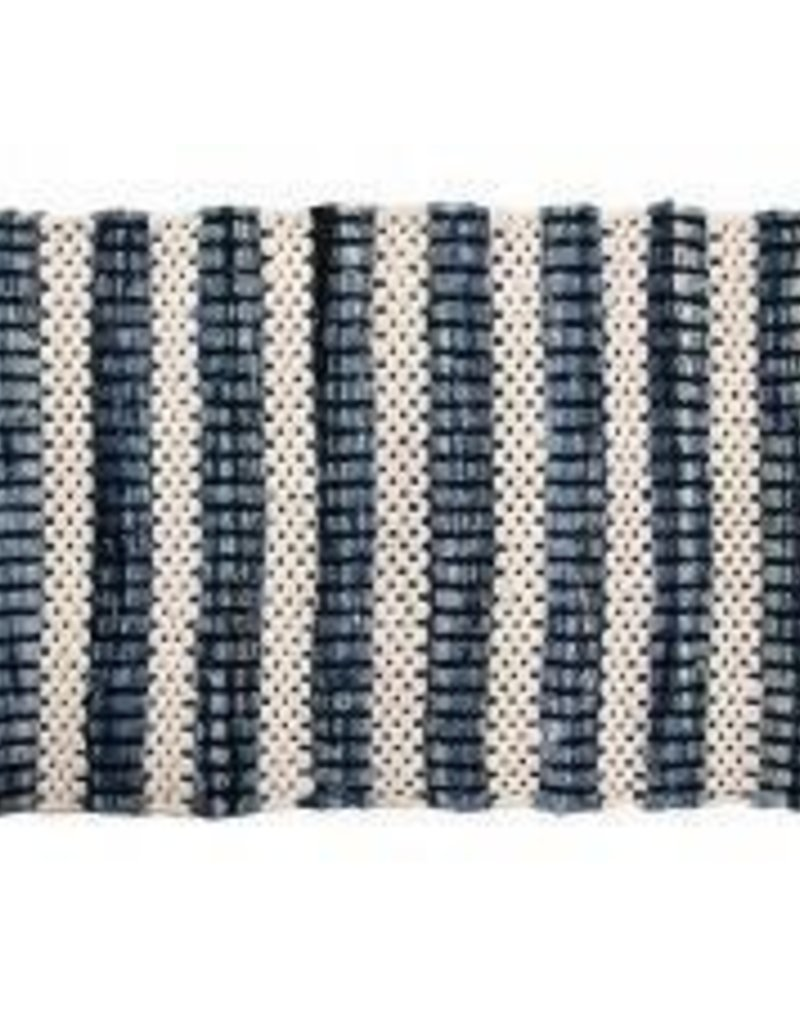 "Gajmoti of Canada Ltd. Chindi Rugs 24X36"" - Heavy Cotton, Heavy Denim"