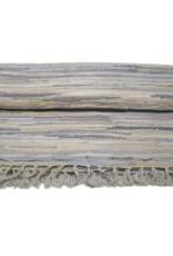 """Gajmoti of Canada Ltd. Chindi Cotton Floor Mat 56""""X80"""" - Beige Tonal"""