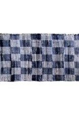 "Gajmoti of Canada Ltd. Chindi Rugs 27X72"" - Denim Blue, Checked"