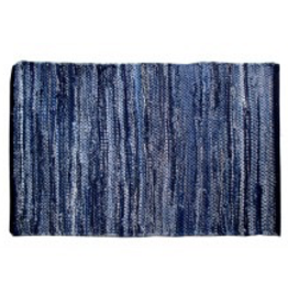 "Gajmoti of Canada Ltd. Chindi Rugs 27X72"" - Denim Blue"