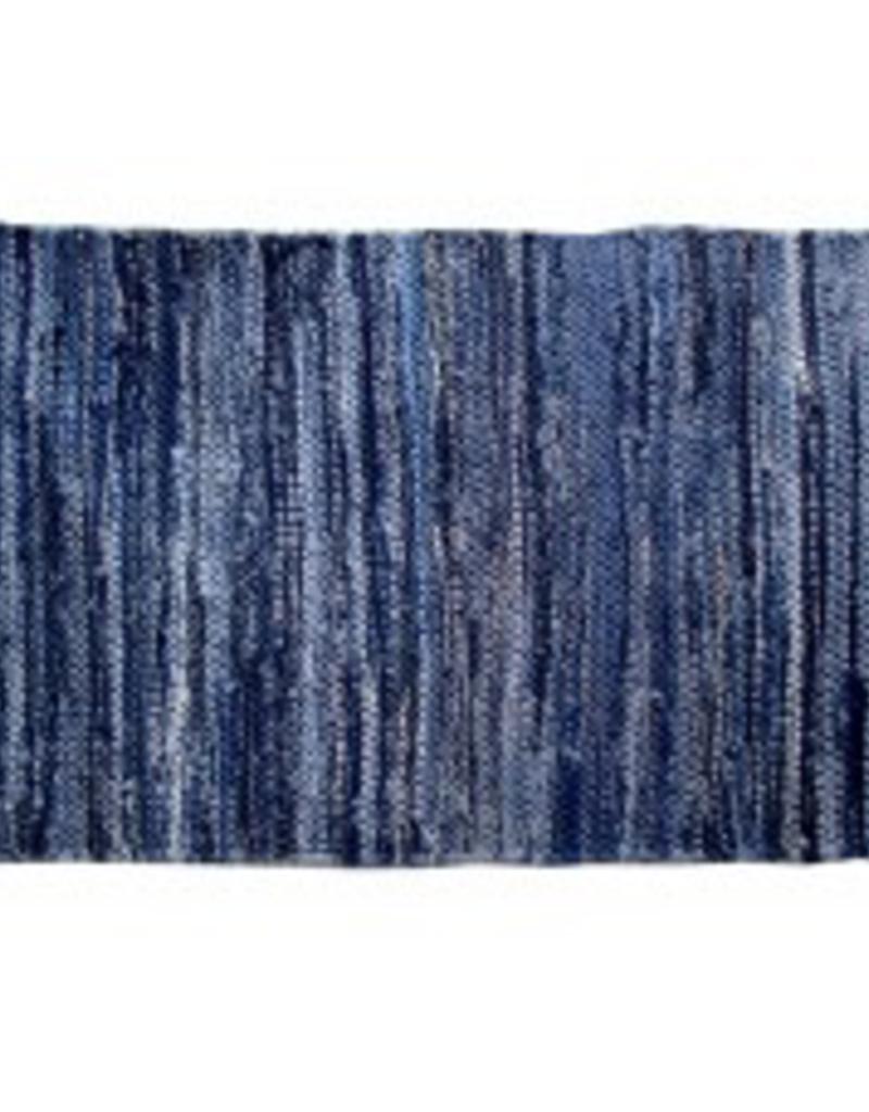 """Gajmoti of Canada Ltd. Chindi Rugs 27X72"""" - Denim Blue"""