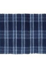 Gajmoti of Canada Ltd. Floor Mat-Ribbed Cotton Chindi Checks-Blue, 48x72""
