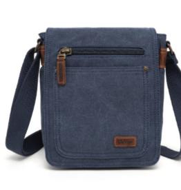 DaVan Small Shoulder Bag with 7 Pockets, Blue