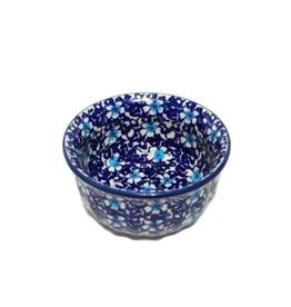 "Polish Pottery Ice Cream Bowl, 4.5""/11cm , Floral Fantasy"