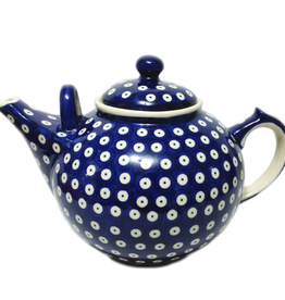 Polish Pottery 3L Family Teapot, Polka Dot