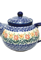 Polish Pottery 1.25L Afternoon Teapot, Spring Morning
