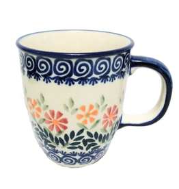 Polish Pottery 10oz Bistro Mug, Spring Morning