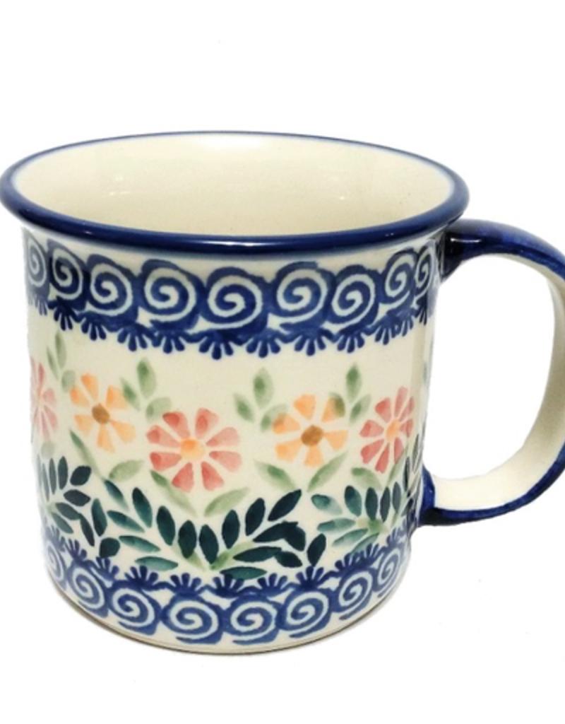 Polish Pottery 13oz Canadian Mug, Spring Morning