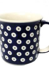 Polish Pottery 13oz Canadian Mug, Polka Dot