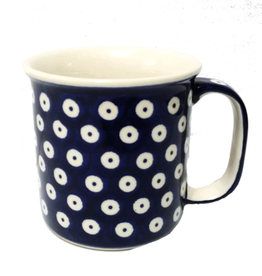 Polish Pottery 13oz Canadian Mug, Polka Dot