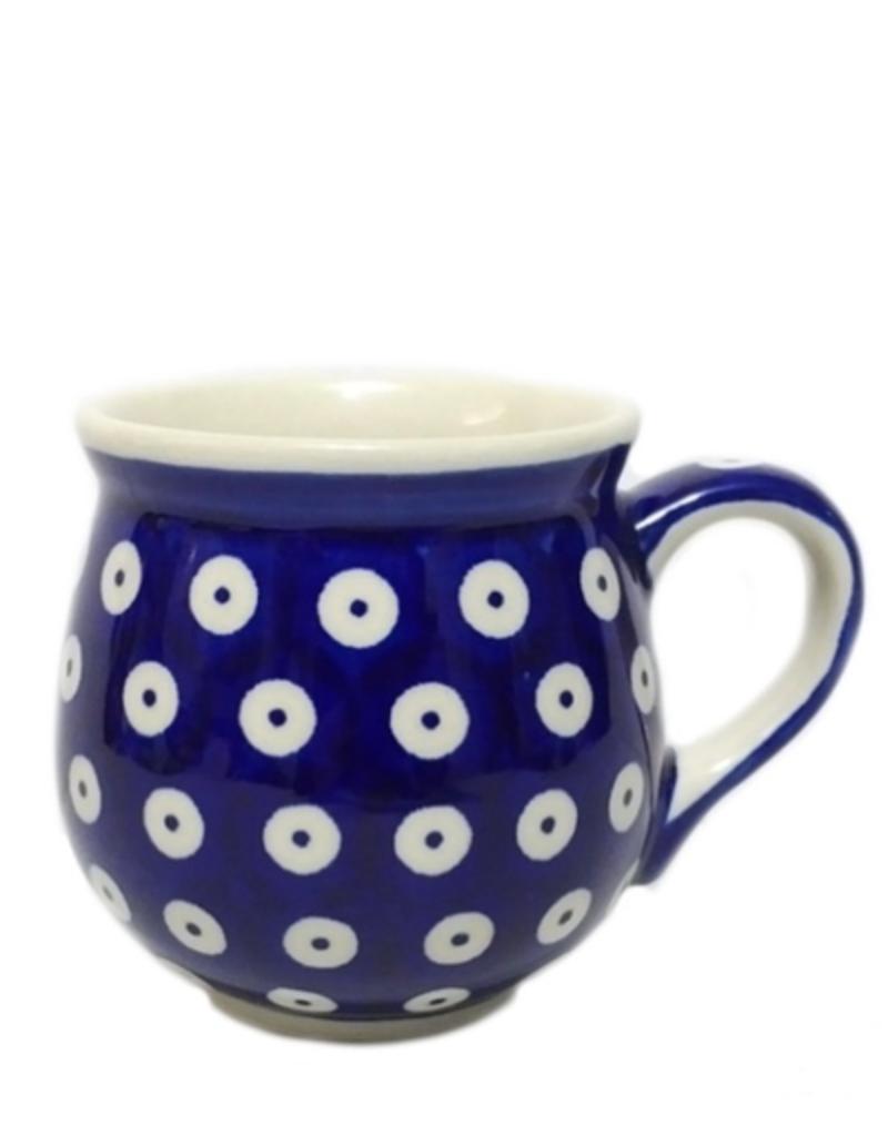 Polish Pottery 7oz Ladies Mug, Polka Dot