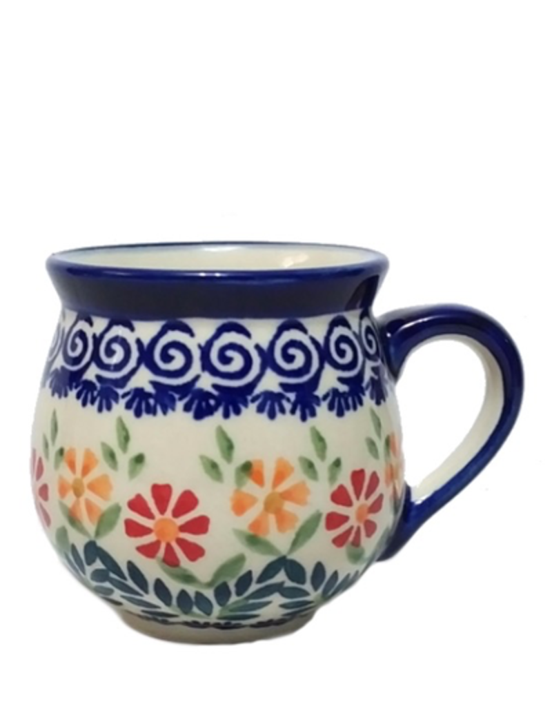 Polish Pottery 7oz Ladies Mug, Spring Morning